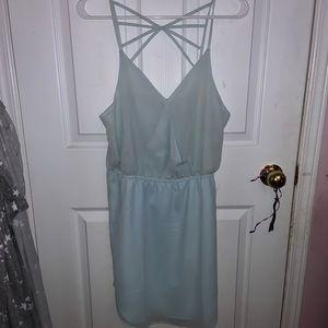 🐢Flowy blue strappy dress